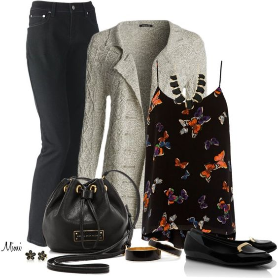 """""""Cardigan & Camisole"""" by myfavoritethings-mimi on Polyvore"""