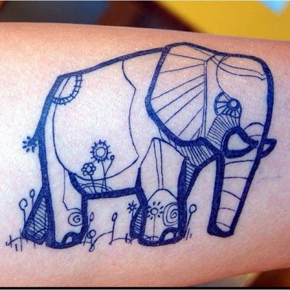 I like the style if this elephant tattoo.