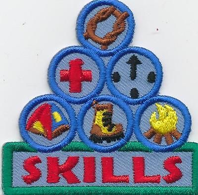 Girl Boy CAMPING OUTDOOR SKILLS  Fun Patches Crests Badges SCOUTS GUIDE Cub