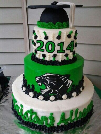 Green Black Panther Graduation Cake It S A Cake Delta