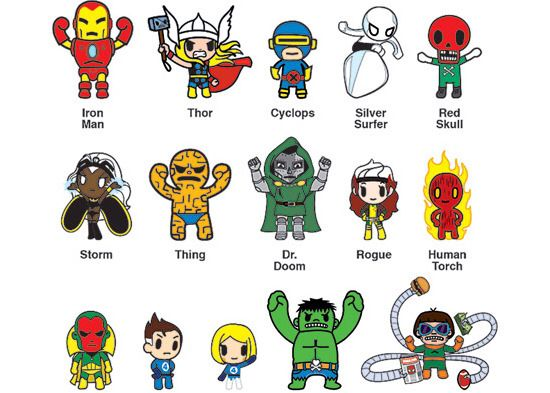 Cute marvel characters