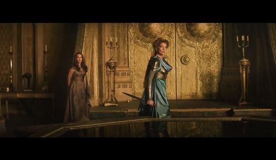 Jane and Frigga in Asgardian dresses, Thor 2