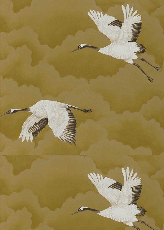 Tapete Cranes in flight 27111235 von Harlequin