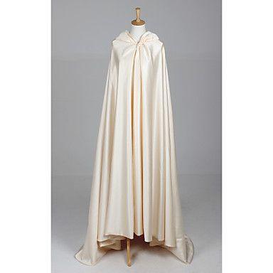 Extra largas mangas de raso de la boda / vestido de noche Hood / Poncho (Más colores) – EUR € 65.99