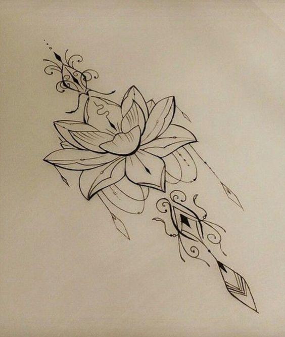 Flor De Lótus Mais De 70 Modelos De Desenhos Tatuagens