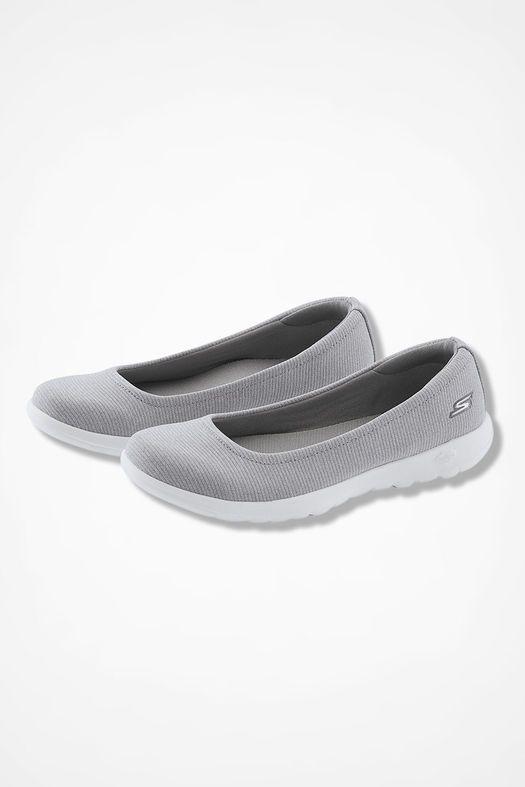 Skechers Go Walk Lite In Bloom Denim Navy Comfort Ballet Shoes