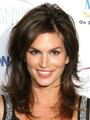 Swell Good Housekeeping Cindy Crawford And Layered Hairstyles On Pinterest Hairstyles For Women Draintrainus