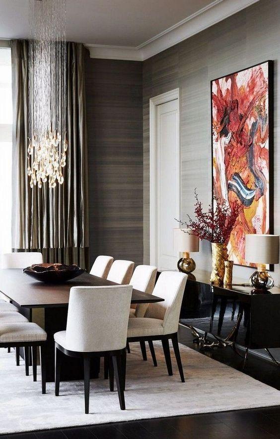 Dress To Room Pairings Critics Choice Awards 2020 Contemporary Dining Room Decor Dining Room Interiors Luxury Dining Room