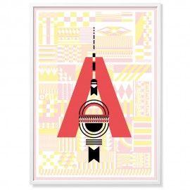 Poster Hauptstadt Alphabet-20