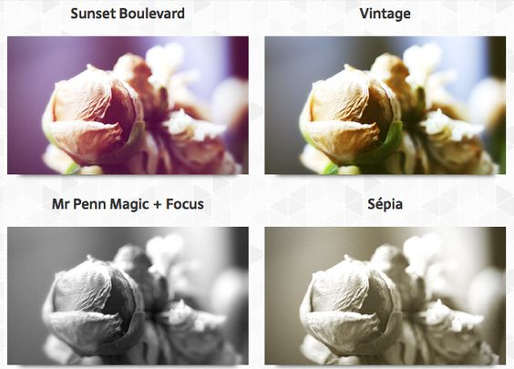 Service simple de retouche photo en ligne.