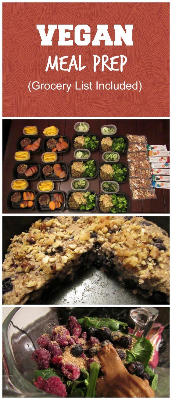 Vegan Meal Prep Preparación de comida, Proteína y Fibra - control plan