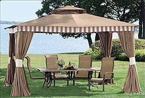 Enjoy Exclusive For Sunjoy 110109421 Universal L Gz339pal St Replacement Canopy Set Online Perfectfurniture Gazebo Outdoor Shade Aluminum Gazebo