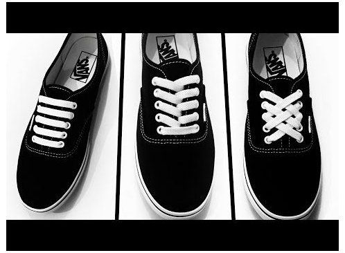 How to bar lace your shoes #shoelace