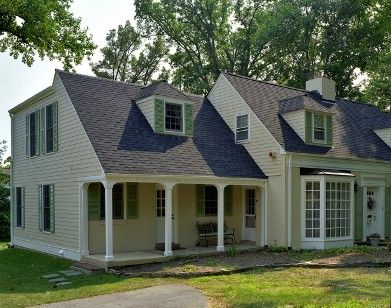 Brick homes white bricks and cape cod on pinterest for Saltbox house additions