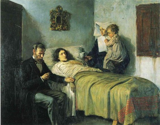 "Pablo Picasso, ""Science and Charity"" (1897) http://bit.ly/18GCSaj"