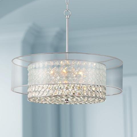 Crystal Raindrop Chandelier Lighting Flush Mount Led Ceiling Light
