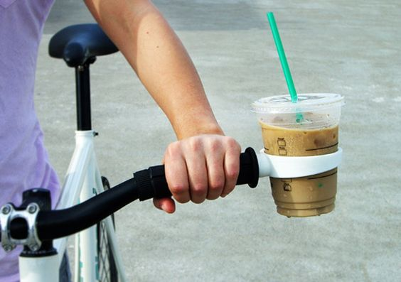 Hahah, a coffee cup holder for my bike. To be honest, its seriously would be very useful! (: