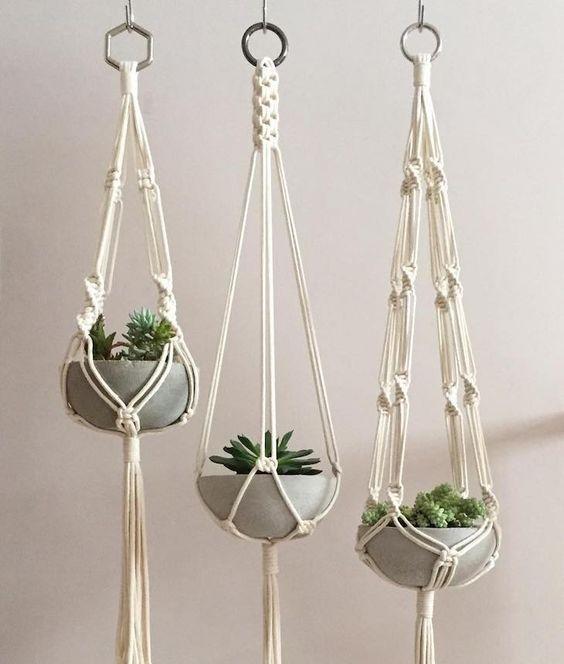 Pflanzen Blumenampel Makramee DIY Weihnachtsgeschenke selber machen