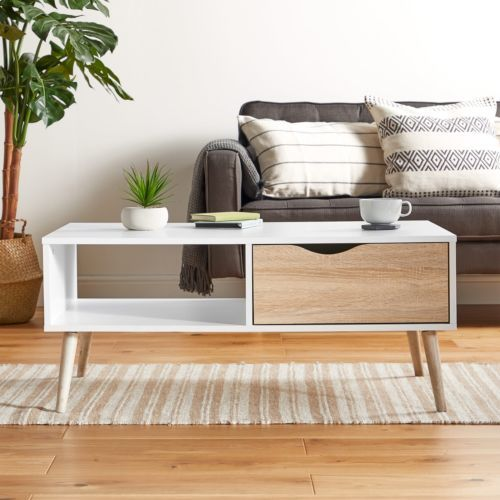 Details About Vonhaus Coffee Table Scandinavian Nordic Style White And Light Oak Effect In 2020 Wooden Coffee Table Designs Scandinavian Furniture Oak Coffee Table