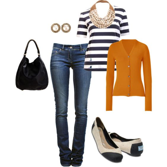 orange nautical, created by whitney-dargle on Polyvore