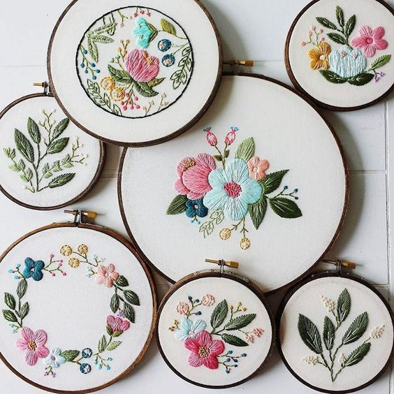 Hand embroidery flower and ceramics on pinterest