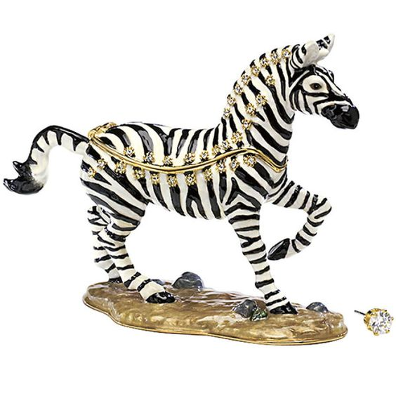 There's just enough sparkle on this Frisky Zebra Box.