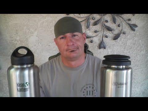 Nalgene VS Klean ( Wide Mouth Stainless Steel Bottles) - YouTube