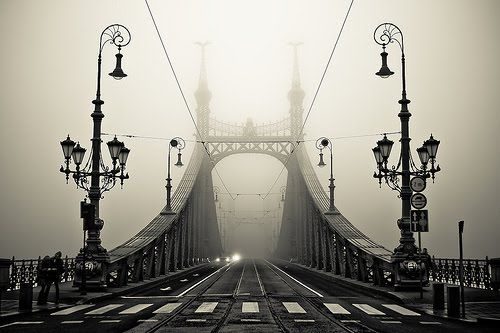 Old school bridge in the fog  By Murray