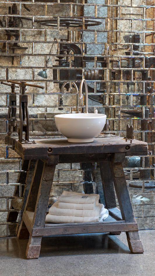 Armatur Und Waschbecken Im Loft Style In 2020 Traditionelle Bader Waschbecken Moderne Waschbecken