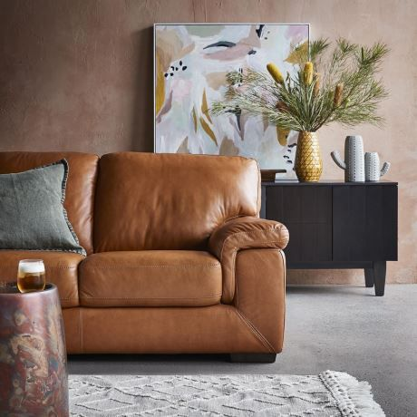 Barret 3 Seat Leather Sofa In 2020 Leather Sofa Leather Seat Sofa Bed