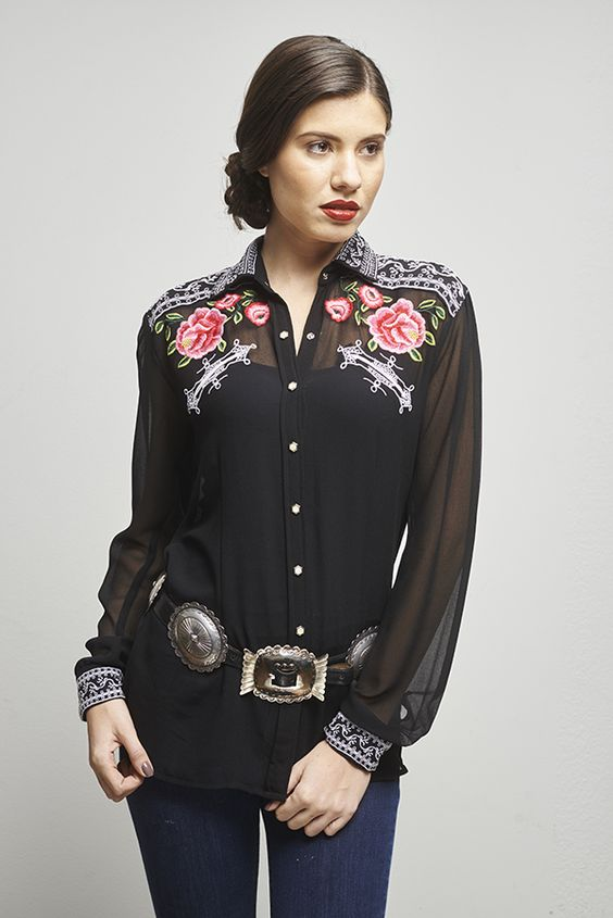 "The ""Dale Evans"" Blouse by Roja. A classic look for sure!"