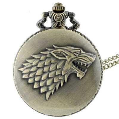 Collar largo reloj Casa Stark de Juego de Tronos