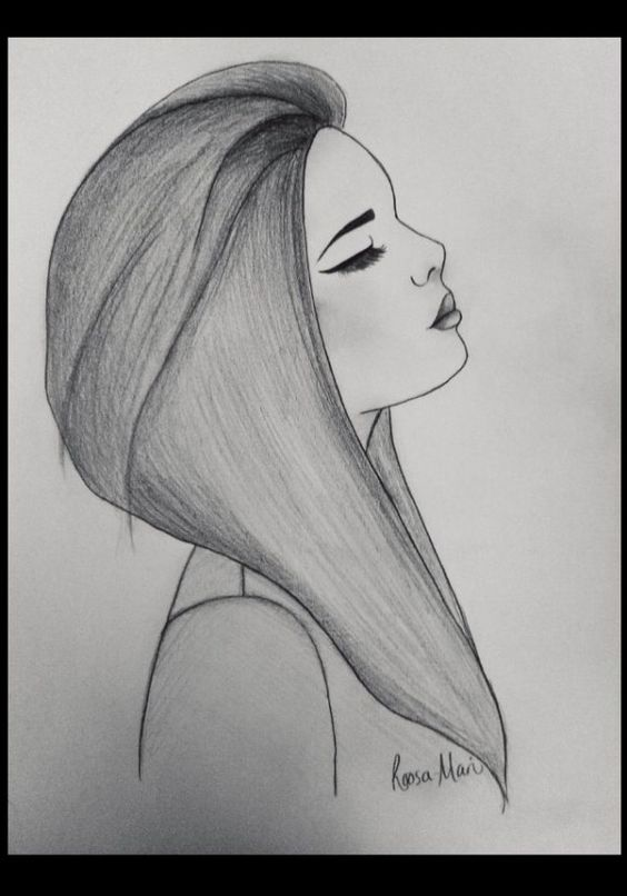 Sad girl drawing by roosa mari credit due to website for Easy drawing websites