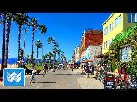 Walking From Venice Beach To Santa Monica Pier In Los Angeles California 4k Youtube Beach Path Wailea Beach Santa Monica