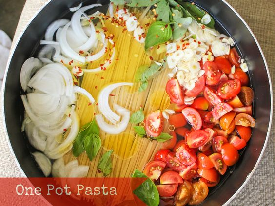 One Pot Pasta Recipe.