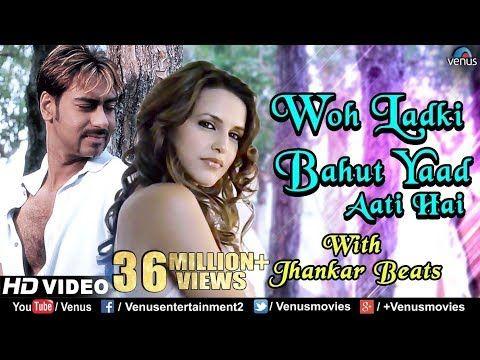 Woh Ladki Bahut Yaad Jhankar Beats Ajay Devgn Qayamat 90 S Bollywood Romantic Songs Youtube Romantic Songs 90s Hits Songs