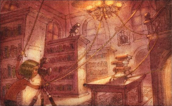 Illustration from The Library Ghost by Lee White