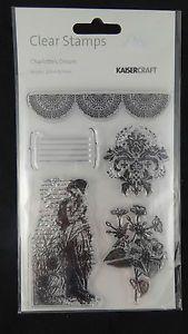 Kaisercraft Charlottes Dream Clear Acrylic Stamp Set CS819 vintage floral journa