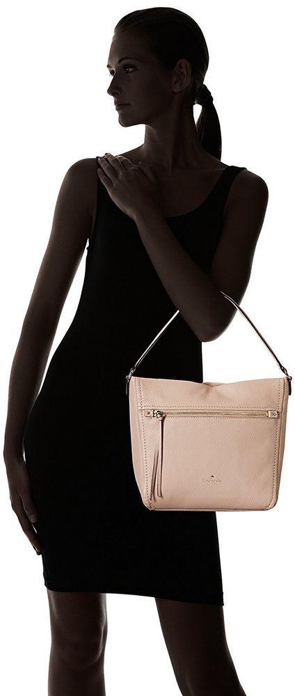 Kate Spade Teagan Pebble Leather Large Shoulder Bag Pressed Powder Pinkish Beige #katespade #ShoulderBag