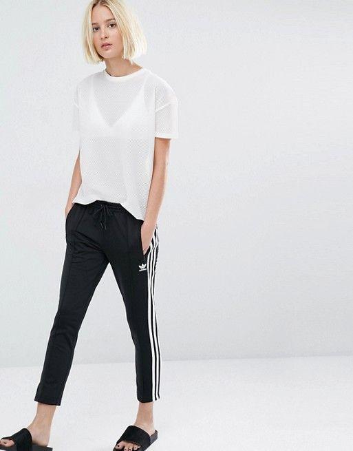 Adidas   adidas Originals Three Stripe Cigarette Pants