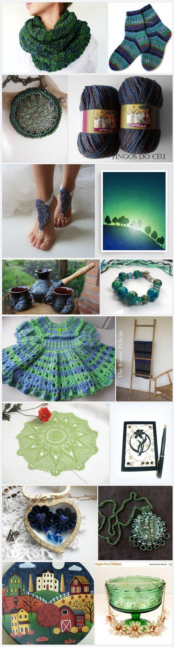 Blue & green finds! by Aleksandra on Etsy https://www.etsy.com/treasury/NjkwODYxOTZ8MjcyODQ2MDA0Ng/blue-green-finds