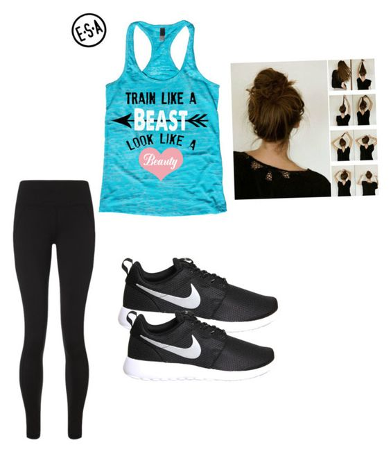 """Workout clothes"" by srgranby on Polyvore featuring Sweaty Betty and NIKE"