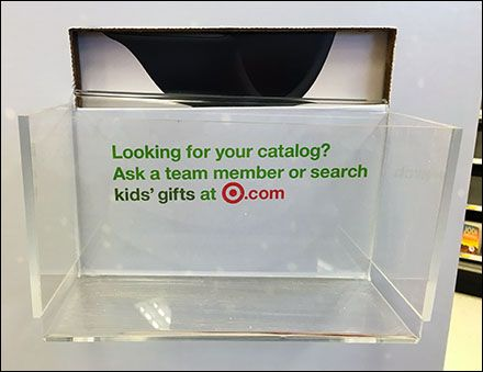 "Having a Christmas Catalog in hand as you shop the store means big business for Target®, so you are urged to hunt up a ""team Member"" if out-of-stock, or as a last resort search ""Kid's Gifts"" at Tar..."