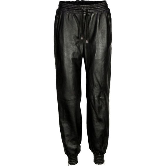 VIPARO Black Stampaid Pants (€240) ❤ liked on Polyvore featuring pants, bottoms, black, relaxed pants, drawstring pants, draw string pants, ankle zip pants and relaxed fit pants