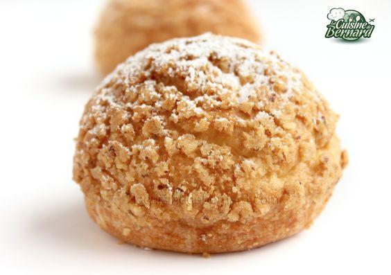 La Cuisine de Bernard: Les Choux Noisettes et Crème Caramel au Beurre Salé