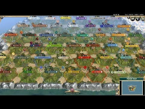 Civ 5 Ai Only Timelapse All 43 Civs On The Small Map Civilization Maps Video Enjoyment Funny Sites