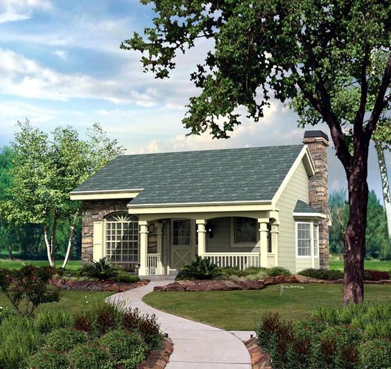 Cabin Cottage Country Ranch House Plan 86987