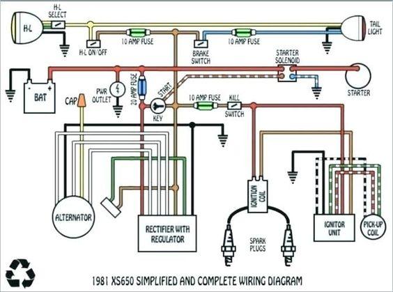 1978 Yamaha Xs650 Wiring Diagram Xs650 Electrical Wiring Diagram Diagram