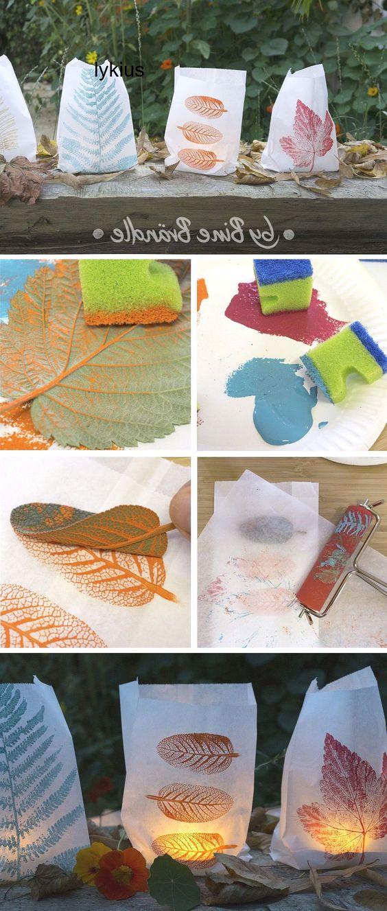 Kindergarten Farbe Paint Windlichter Selbe Windlichter Selber Basteln Herbstmotive Basteln