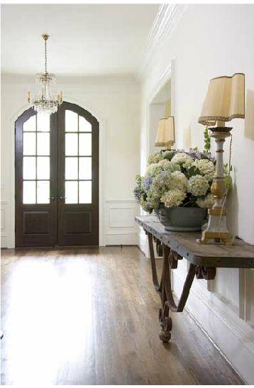 Pin van alice de wit op wonen hal entree voordeur pinterest voordeuren portiek en - Decoratie entree van hal ...